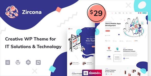 Zircona – IT Solutions & Technology WordPress Theme Preview