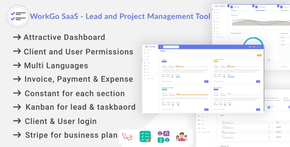 WorkGo SaaS - Lead and Project Management Tool Download