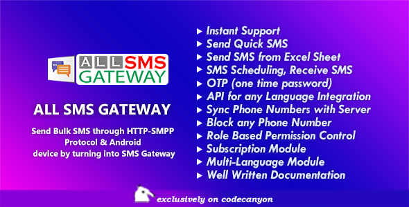 All SMS Gateway - Send Bulk SMS through HTTP-SMPP Protocol & Android phone by Turning into Gateway Download
