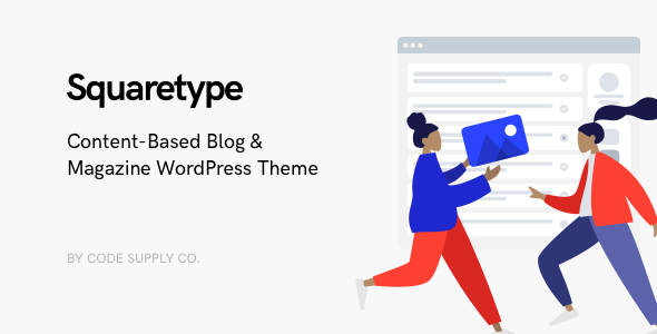 Squaretype - Modern Blog WordPress Theme Download