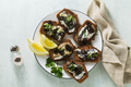 sandwiches with sardines marinated in olive oil - PhotoDune Item for Sale