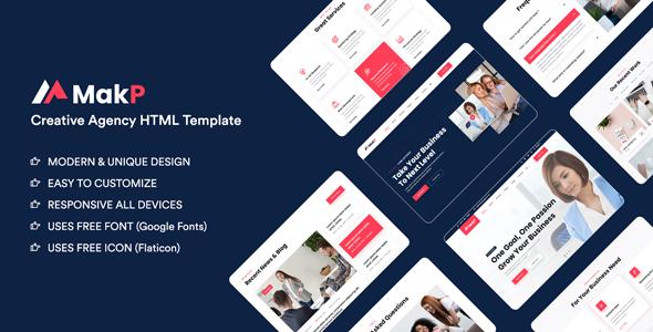 Makp – Creative Agency HTML Template 1