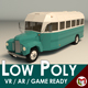 Low Poly Vintage Bus 01 - 3DOcean Item for Sale