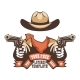 Western Cowboy Face Template - GraphicRiver Item for Sale