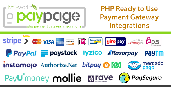 PayPage - PHP ready to use Payment Gateway Integrations Download