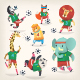 Farm and Wild Animals Play Football - GraphicRiver Item for Sale