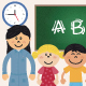 Teacher and Kids at School - GraphicRiver Item for Sale