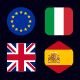 Flags of European Union + UK - Flag Icons - GraphicRiver Item for Sale