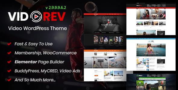 VidoRev - Video WordPress Theme Download