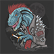 Dinosaur Punk Raptor T-Rex - GraphicRiver Item for Sale