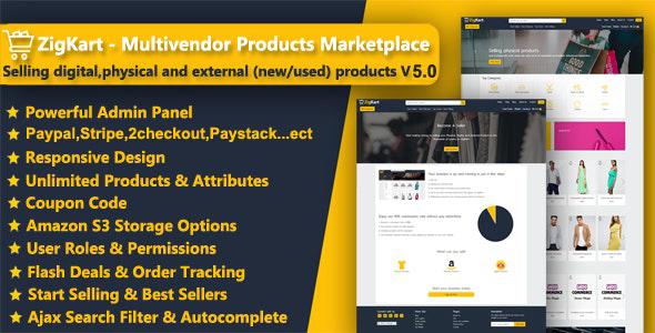 ZigKart - Multivendor Products Marketplace Download