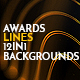 Awards Lines 12in1 Pack Loop Backgrounds Gold - VideoHive Item for Sale