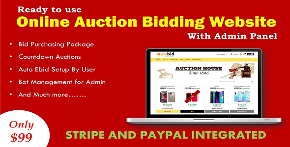 Online Auction Bidding Website in ASP.NET