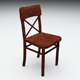 Wooden Chair 3D - 3DOcean Item for Sale