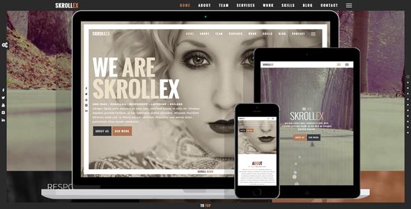 Skrollex - Creative One Page Parallax
