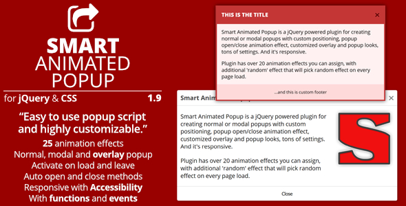 Smart Animated Popup - jQuery Popups Plugin Download