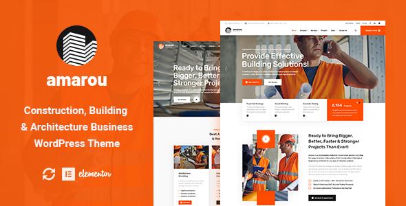 Amarou – Construction & Architecture WordPress Theme Preview