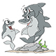 Cartoon Family of Dolphins Having Fun Underwater - GraphicRiver Item for Sale