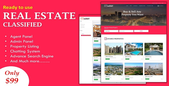 Multi Agent Real Estate / Property Classified Website in ASP.NET Download