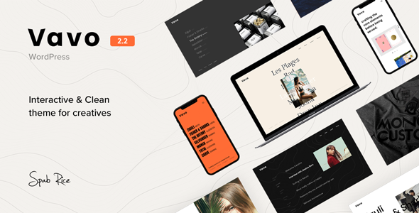 Vavo - An Interactive & Clean Theme for Creatives Download