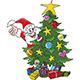 Cartoon Santa Claus Hiding Behind a Christmas Tree Vector Illustration - GraphicRiver Item for Sale