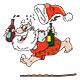 Cartoon Drunk Santa Claus Holding a Wine Bottle - GraphicRiver Item for Sale