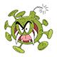 Cartoon Corona Virus As a Bomb Vector Illustration - GraphicRiver Item for Sale