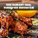 Restaurant Deals Instagram Post Templates - 05 Designs - GraphicRiver Item for Sale