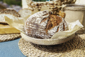 Homemade bread. Healthy food. Homemade loaf close up - PhotoDune Item for Sale