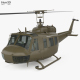Bell UH-1 Iroquois with HQ interior - 3DOcean Item for Sale