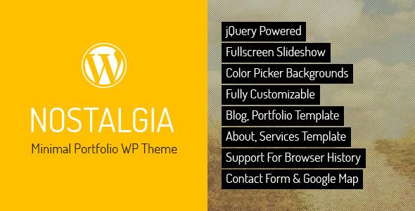 Nostalgia - Responsive Portfolio WordPress Theme Download