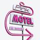 Motorway Sign PBR Pink Motel