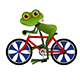 Illustration of a Cartoon Frog on a Bicycle - GraphicRiver Item for Sale
