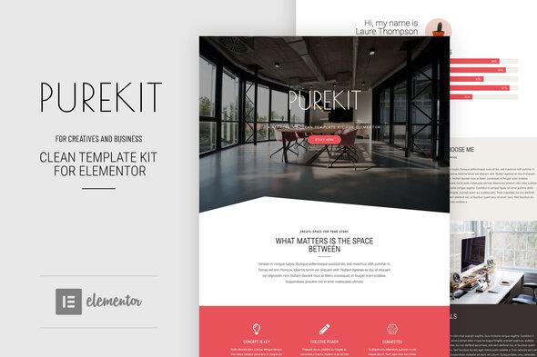 Purekit - Creatives & Business Elementor Template Kit