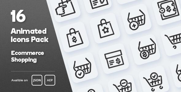 Ecommerce Shopping Animated Icons Pack