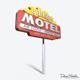 Motorway Motel Sign PBR - 3DOcean Item for Sale