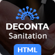 Deconta - Sanitation, Disinfection and Pest Control HTML Template - ThemeForest Item for Sale