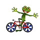 Stock Illustration Merry Frog on a Bicycle - GraphicRiver Item for Sale