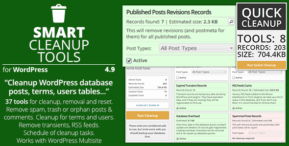 Smart Cleanup Tools - Plugin for WordPress Download