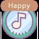 Happy Logo Ukulele Claps & Bells