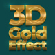 3D Gold Text Effect - GraphicRiver Item for Sale