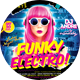 Funky Electro Night Party Flyer - GraphicRiver Item for Sale