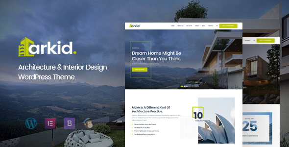 Arkid – Architecture and Interior Design WordPress Theme Preview