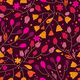 Autumn Floral Seamless Pattern with Leaves - GraphicRiver Item for Sale