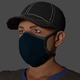 Masked Man Low-poly 3D model Ready for games - 3DOcean Item for Sale