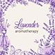 Vintage Floral Frame with Purple Lavender Flowers - GraphicRiver Item for Sale