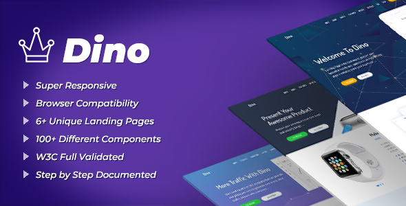 Dino - Landing Pages HTML Template