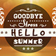 Goodbye stress hello summer - GraphicRiver Item for Sale