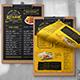 Single Page A4 & US Letter Food Menu - GraphicRiver Item for Sale