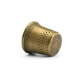 Old copper thimble close-up isolated on white background - PhotoDune Item for Sale